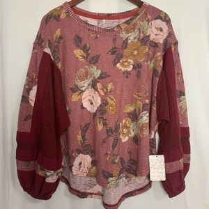 *NEW* FREE PEOPLE Blossom Thermal Shirt